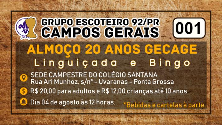 20 anos GE Campos Gerais - 92/PR