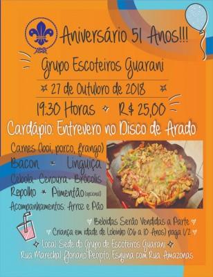 Jantar de Aniversário de 51 anos do G.E. Guarani