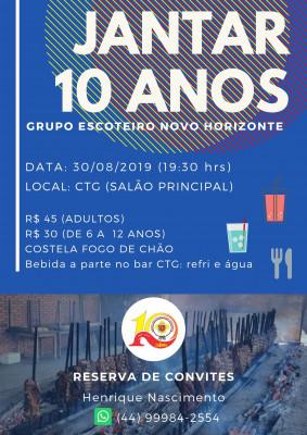 JANTAR 10 ANOS GRUPO ESCOTEIRO NOVO HORIZONTE