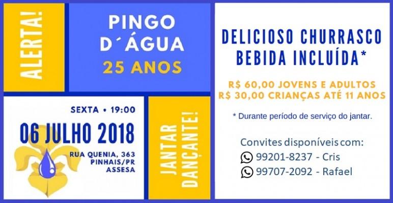 25 ANOS GRUPO ESCOTEIRO PINGO D´ÁGUA