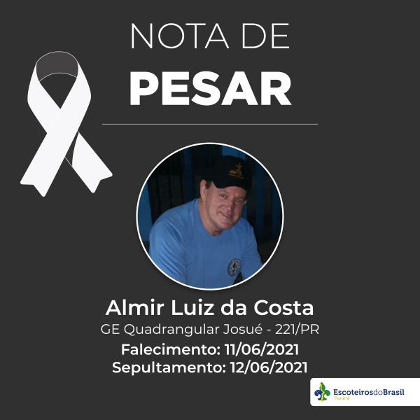 Nota de Pesar - Almir Luiz da Costa GE 221/PR