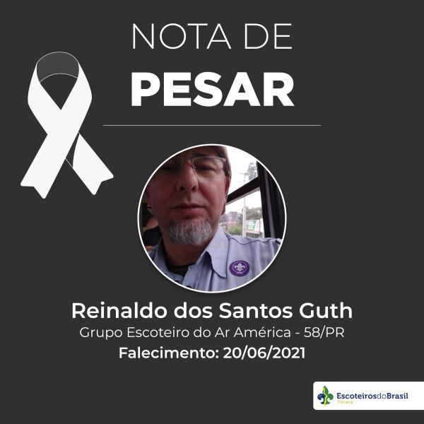 Nota de Pesar - Reinaldo dos Santos Guth GEAA 058/PR