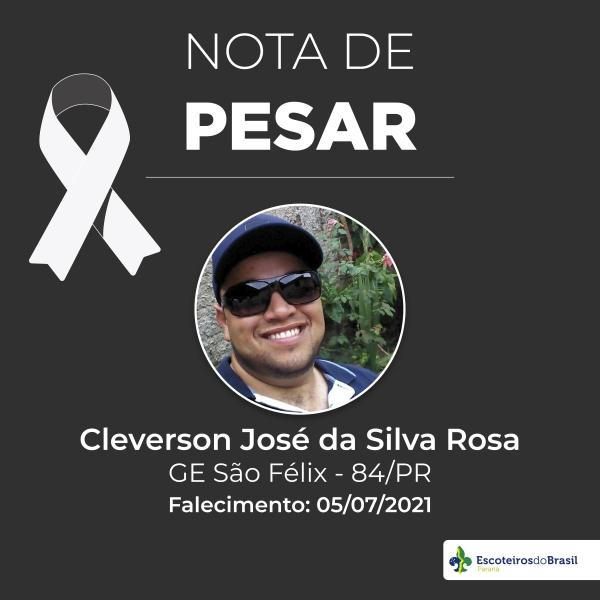 Nota de Pesar - Cleverson José da Silva Rosa GESF 084/PR
