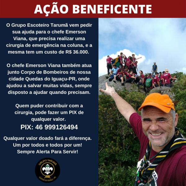 Ação Beneficente - Ajude o Chefe Emerson Viana GE 109/PR