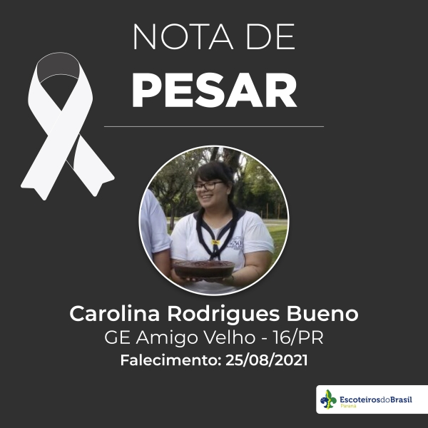 Nota de Pesar - Carolina Rodrigues Bueno GEMAV 016/PR