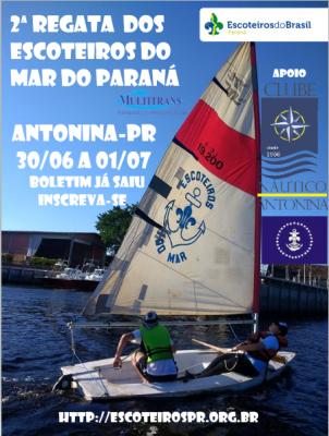 A 2ª Regata Regional dos Escoteiros do Mar do Paraná