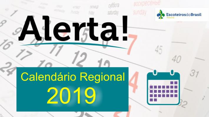Calendário Regional - 2019