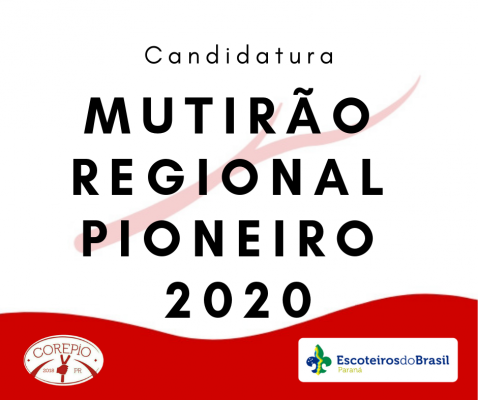 Candidatura Mutirão Regional Pioneiro 2020