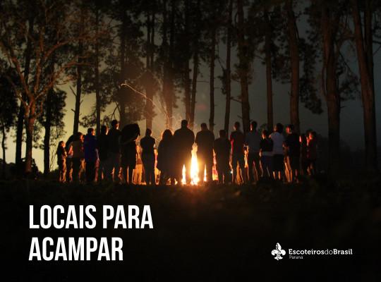 Procurando lugares para acampar?