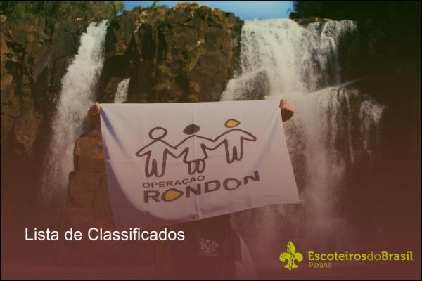 Classificados Projeto Rondon
