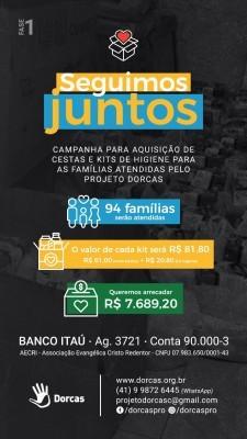 Campanha para auxílio às famílias