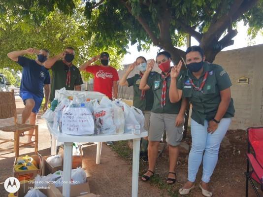 Grupo Escoteiro Olhos da Mata realiza Quarentena Solidária