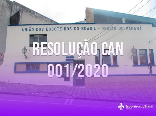 Resolução CAN 001/2020