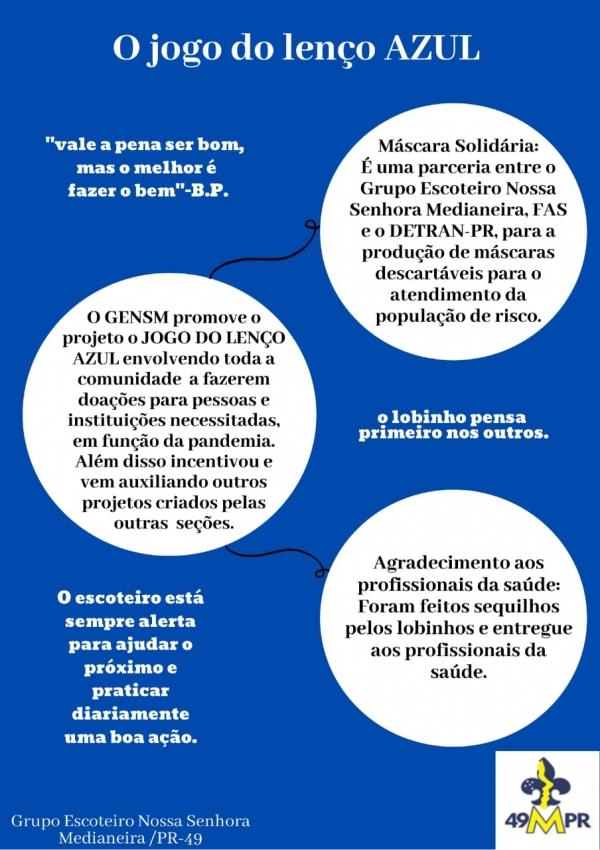 O jogo do lenço azul-GENS Medianeira-PR/49