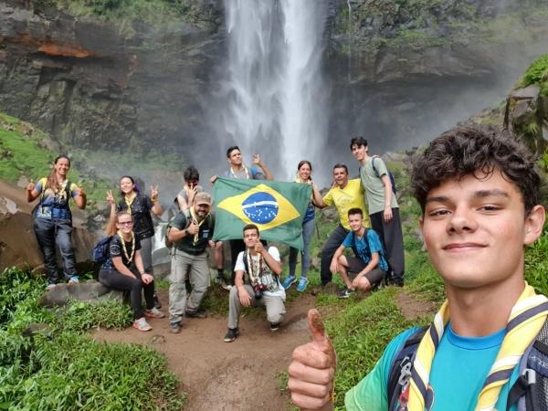 Sêniores do GE Guara Puava visitam o Salto São Franscisco