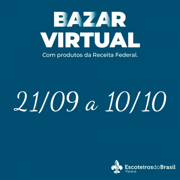 Bazar Virtual com Produtos da Receita Federal