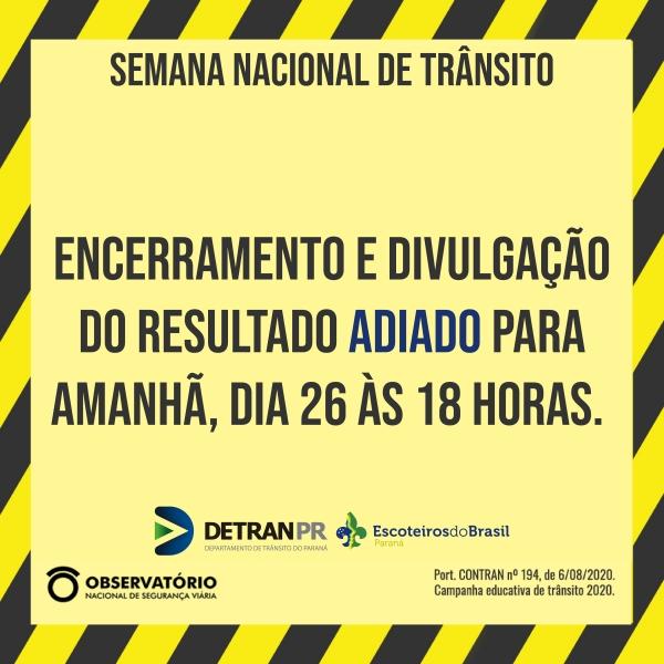 Gincana Semana Nacional de Trânsito