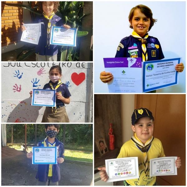 Lobinhos da Alcateia Lobo Bravo comemoram suas conquistas!!!