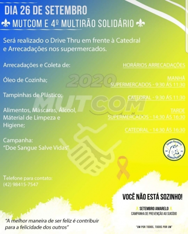 MutCom 2020 – Envolvendo a Comunidade no 4º MUTIRÃO Solidário